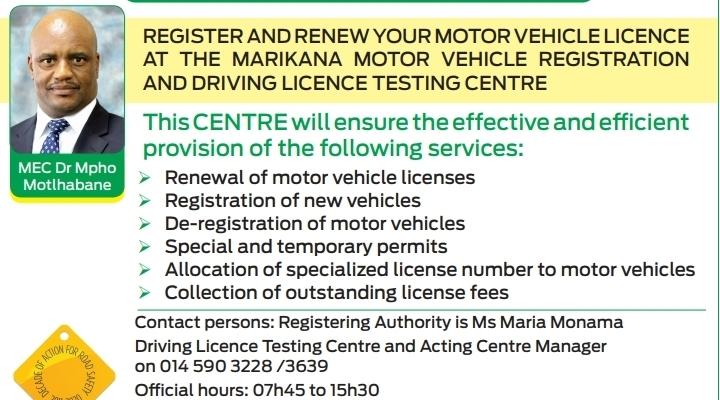 Marikana Driving License Testing Centre Now Operating